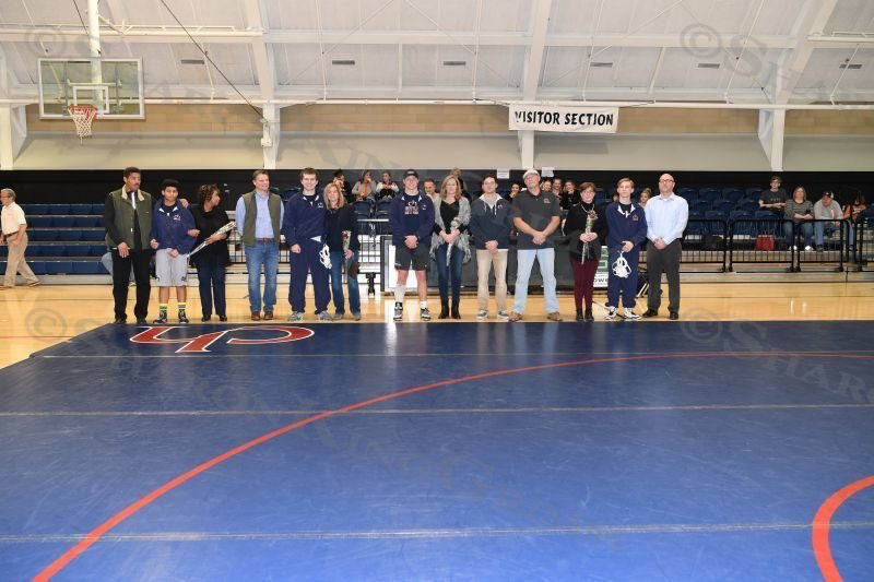 Wrestling : Senior Night : 1.25.18
